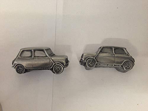 Mini 1275 GT 3D Boutons de manchette Boutons de manchette voiture classique effet étain Ref149