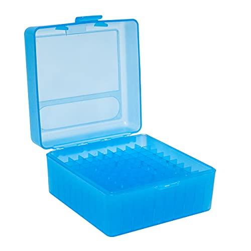 Nomis Caja para 100 cartuchos de tinta (17 Fireball, 17 / 221 / 223 Rem., 204 Ruger, 222 Rem. Mag., 223 Rem. HP, 300 Sherwood, 300 Whisper, 32 Ideales, 6 mm TCU, 6 mm-223 Rem + más)