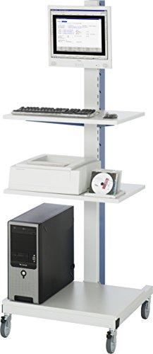 RAU PC- und Gerätestation - Kabelkanal mit integrierter 4fach-Steckdosenleiste - fahrbar - Arbeitsplatz Arbeitsplätze Computermöbel Computerschrank Computerschränke Computerständer EDV-Arbeitsplatz EDV-Arbeitsplätze EDV-Beistellmöbel EDV-Möbel PC-Schrank