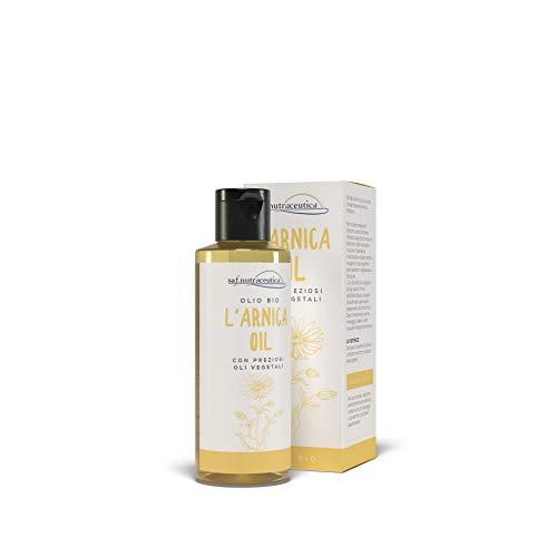 Saf.Nutraceutica - L' Arnica Oil - 100ml - Olio Bio all' Arnica con un'alta concentrazione di Arnica montana arricchito dalla presenza di vitamina E e preziosi oli vegetali. Made in Italy.