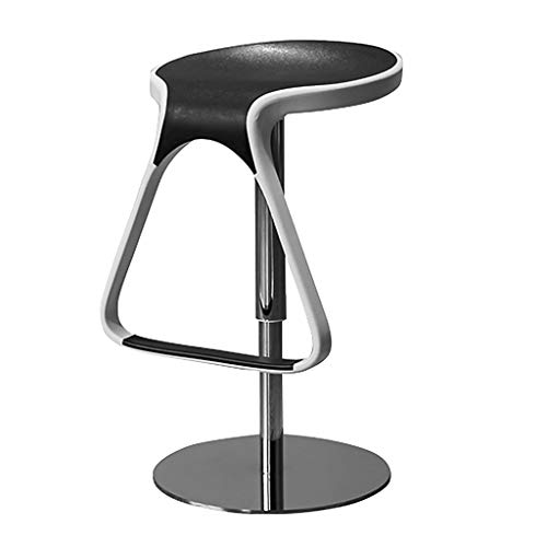 Chaises de bureau Chaise De Bar Chaise Pivotante Home Tabouret Haut Chaise De Restaurant Tabouret De Salon De Beauté Peut Supporter 100 Kg (Color : Black, Size : 38.5 * 38.5 * 63-80cm)