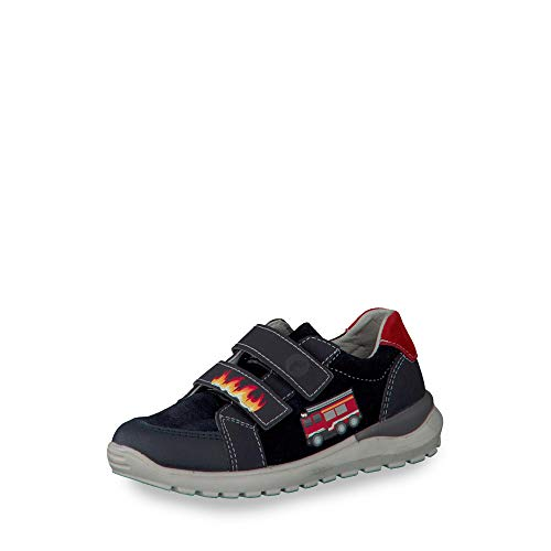 RICOSTA Mädchen Sneaker Bobbi 6923600, Kinder Low-Top Sneaker,Halbschuh,Sportschuh,Klettschuh, Klett-Verschluss,See,33 EU