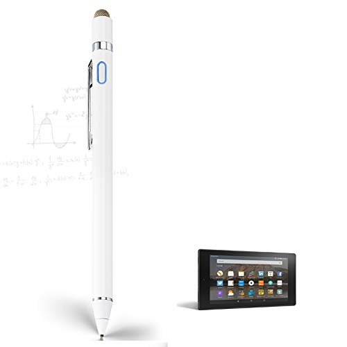 Stylus Pen for Amazon Fire HD 10 Tablet, EDIVIA Digital Pencil with 1.5mm Ultra Fine Tip Pencil for Amazon Fire HD 10 Tablet Stylus, White