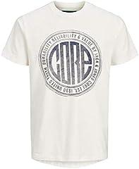 JACK & JONES Camiseta Manga Corta Hombre Estampada Core