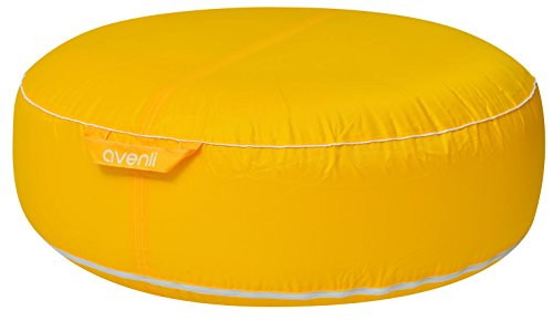 Avenli Pouf I Sitzkissen 98x38cm Sitzsack aufblasbar gewebeverstärkter Bezug wasserfest Outdoor gelb