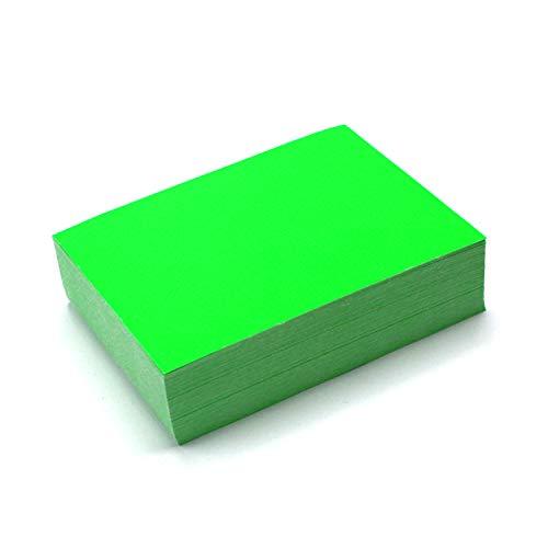 150 Beschriftungsetiketten in neon-grün I 10 x 7 cm groß I Neon-Etiketten aus Papier zum Beschriften I universal I dv_398