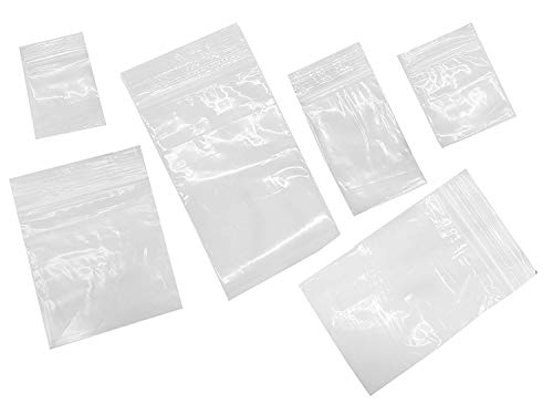 ShipGuard 600 Reclosable Bags 6 Assorted Sizes Clear 2MIL baggies1.5x2 2x2 2x3 3x3 3x4 3x5