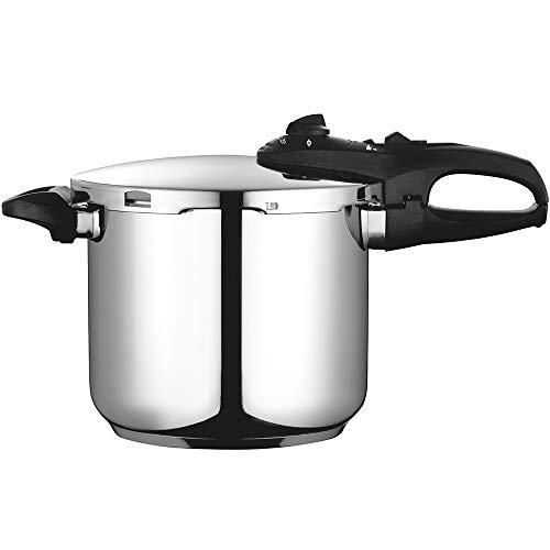 Fagor Duo Olla a presión Super rápida, Acero Inoxidable, Todo Tipo de cocinas, INDUCCION Total. Fondo termodifusor IMPAKSTEEL Muy Resistente, 5 Sistemas de Seguridad, 2 Niveles de presión (7,5 L)