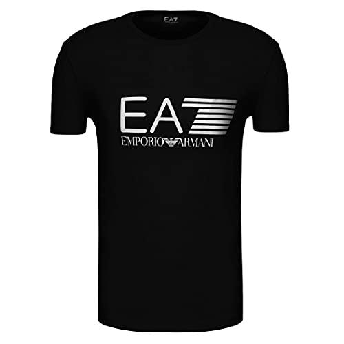 Emporio Armani Herren EA7 T-Shirt 3ZPT62 PJ03Z Kurzarm Rundhals Gr. L, Schwarz