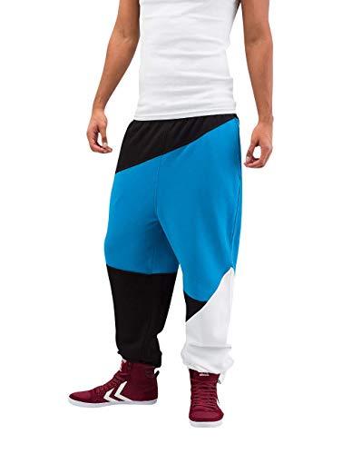 Urban Classics Jogginghose Zig Zag Sweatpants Pantalon de Sport, Multicolore (Noir/Turquoise/Wh 00049), W28 Homme