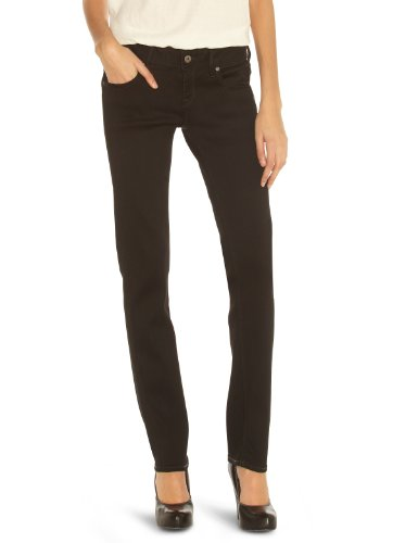 G-STAR RAW Damen Attacc Mid Straight Jeans, Blau (Rinsed-082), 24W / 32L