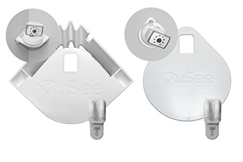 VuSee Bundle | Universal Baby Monitor Shelves | Bundle Includes 2 Mounts: Corner & Flat | Compatible with Most Baby Monitors | Safe Cord Management | Easy Installation