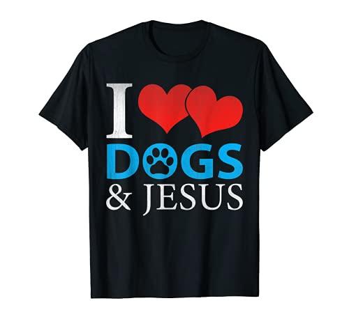 """Grafik mit Aufschrift """"I Love Dogs And..."""