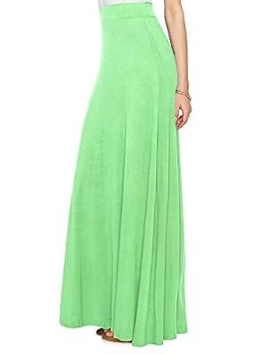 LL Womens Print High Waist Maxi Skirt - Made in USA
