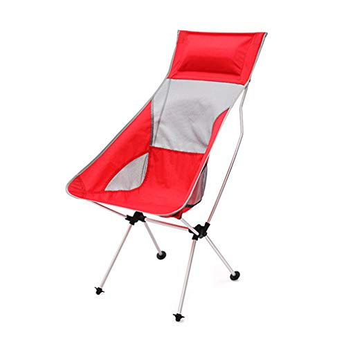SMBYLL Chaise de Plage en Aluminium Ultra-Clair, en Aluminium, Facile à Transporter Quatre Couleurs en Option Chaise Pliante (Color : Red)