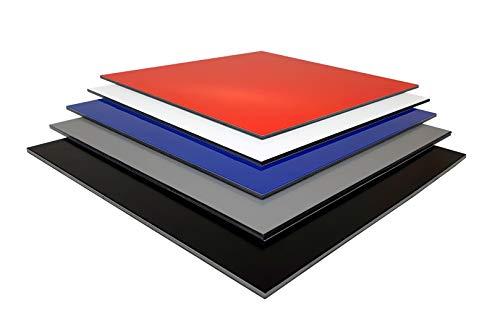 Alu-Verbundplatten Sandwichplatte DILITE® 3mm diverse Farben und Zuschnitte verbundplatte (610 x 375 mm, schwarz matt/glänzend)
