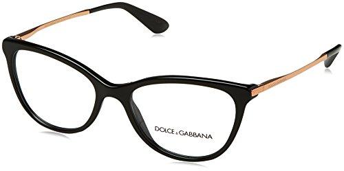 Dolce&Gabbana DG3258 Eyeglass Frames 501-52 - Black DG3258-501-52