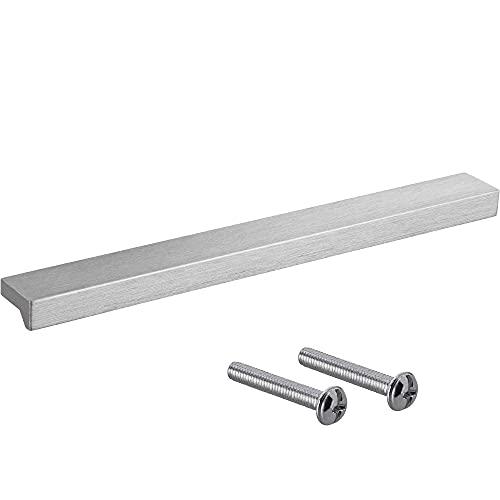 Gedotec Tirador de aluminio macizo | Tirador de cajón en plata | ANGLE | Tirador para muebles de diseño para cajones con la longitud: 600 mm | Tirador de puerta de armario | 1 pieza
