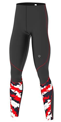 Hera International - Mallas de compresión para hombre, color rojo, tamaño extra-large