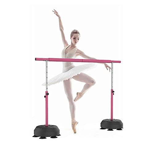 Barra de ballet portátil para el hogar, 6 niveles de altura, barra de ballet antideslizante, segura y estable, adecuada para todos los bailarines, soporta hasta 200 kg.