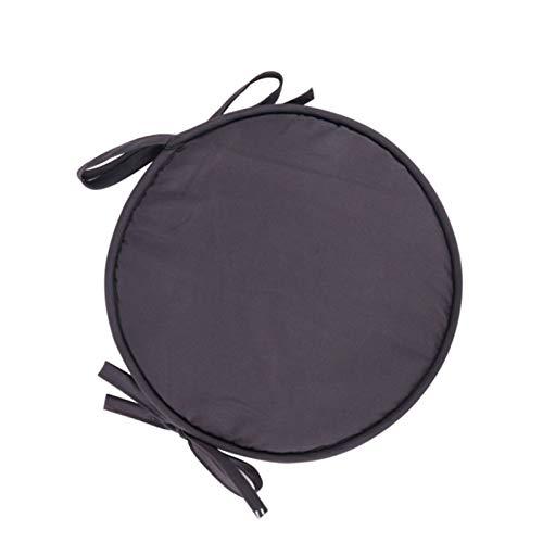 GTD-Cojines para Exterior, Cojín de Silla, Amortiguador de Asientos Cojín Redondo Cojín de Comedor Cojín de cojín Cojín Engrosado, 12'15' Diámetro (1 Paquete) (Color : Gray, Size : 30cm)