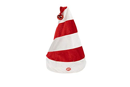 Plushible Dancing Christmas Decorations - Animated Christmas Hat with Music - Holiday Decor (Stripes)
