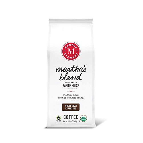 Martha Stewart Coffee By Barrie House   Organic Whole Beans   Martha