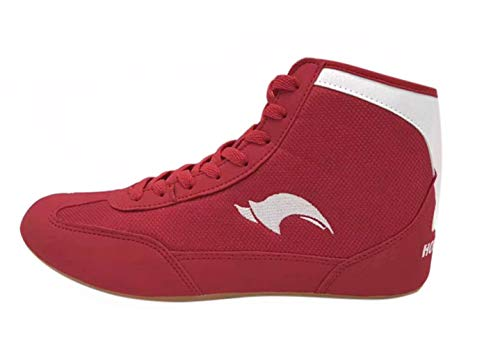 Day Key Low Top Wrestling Shoes for Men, Kids, Youth, Children, Boys, Girls Red