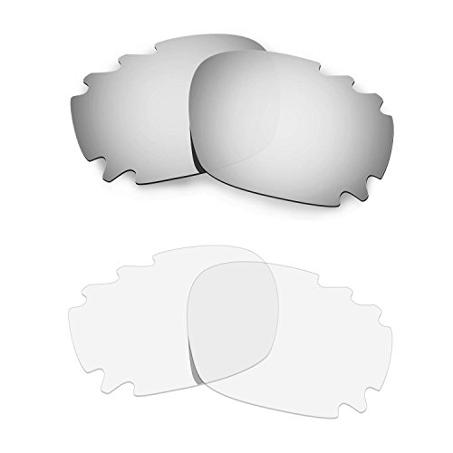 HKUCO Replacement Lenses For Oakley Jawbone Sunglasses Silver/Transparent Polarized