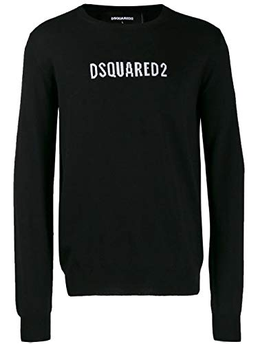 Luxury Fashion   Dsquared2 Heren S71HA0916S16813965 Zwart Wol Truien   Herfst-winter 19