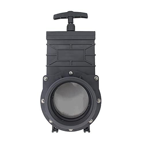 Válvula guillotina PVC encolar para coche RV piscina valvula drenaje agua camper auto compuerta ID 40 50 63 75 90 110mm (Diámetro interno 50mm)