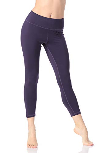 Pau1Hami1ton Leggins Mujer, Mallas Fitness Push Up Pantalones Deporte Running Yoga GP-07(Purple,S)