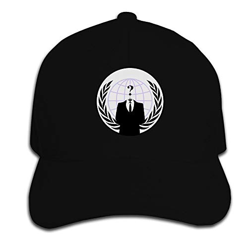 Fashion Anonymous Cotton Baseball Cap Peaked Hat Adjustable for One Size Fit All Ash Black,Hüte, Mützen & Caps