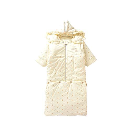 Saco de dormir para otoño e invierno, de algodón, para bebé o niña, grueso, para hombres y mujeres, de algodón, unisex, de manga larga, extraíble, con cremallera