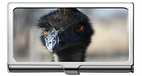 Business Name Card Holder 304 Stainless Steel,Ostrich Bird Head Beak Stainless Steel Card Holder