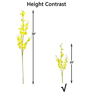 """wlixp artificial orchid for decoration 11 pcs(20"""") silk fake flowers for wedding home office indoor outdoor, not include vase silk flower arrangements"""