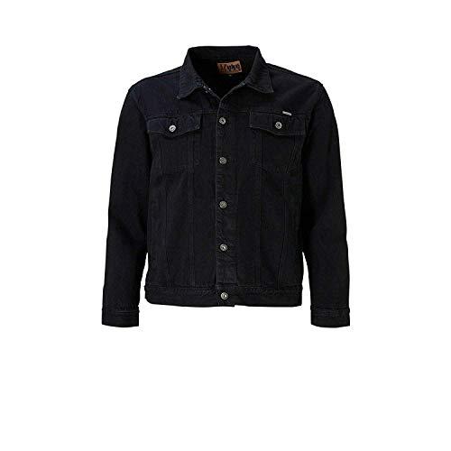 Duke kS1304 denim jeans veste matelas grande taille noir