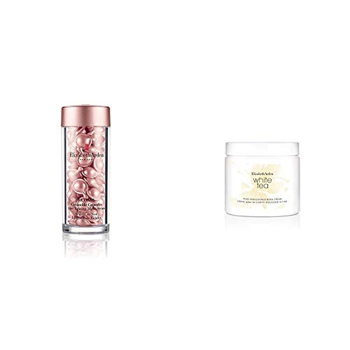 Elizabeth Arden Retinol Ceramide Capsules Line Erasing Night Serum, 60 Capsules & White Tea Body Cream, 400 ml