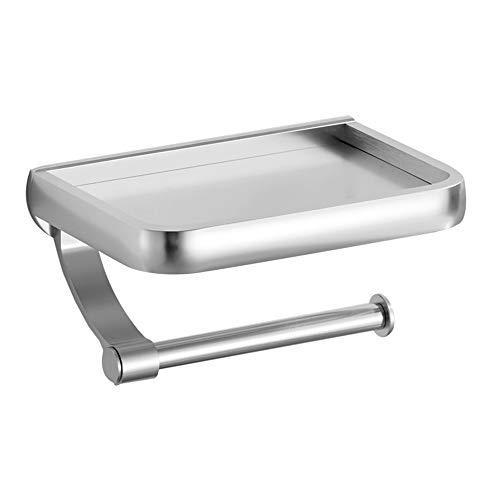 QCCOKNN Estantería de almacenamiento para dispensador de rollo de papel higiénico con soporte para papel higiénico de pared para accesorios de baño