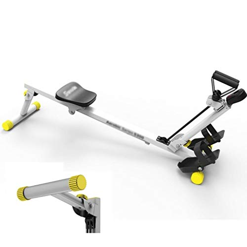 Qazxsw Rudergerät/Haushalt Stille Folding Rudergerät/Abnehmen Bauch Fitness-Maschine/DREI-Speed Resistance Adjustment,Silber,120 * 35 * 35cm