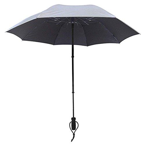 EuroSCHIRM Telescope Handsfree Umbrella Silver Uv-Protection 50+
