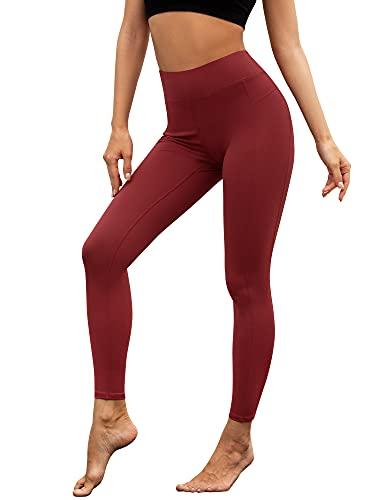Woolicity Mallas de Deporte de Mujer Leggins Pantalón Yoga Cintura Alta Deportivos Leggings para Running Fitness