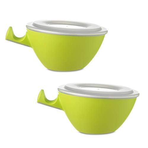 Mepal Loomm ESS Schale Porzellan Kunststoff (Lime 2er Set)
