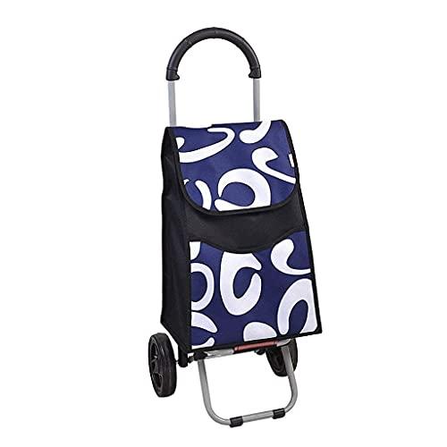 Lätt shoppingvagn stålrör 2 hjul bagage släpvagn Stort hårt bär för enkel förvaring
