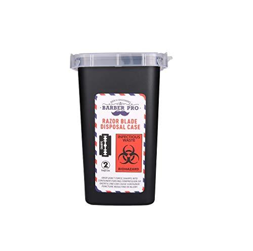 Barber Academy Razor Blade Disposal Case Container, Rasierklingen Entsorgung Box, Medizinische -Tattoo Piercing Nadeln,Friseur Rasierklinge Entsorgung Sammeln Box, Jilet Kutusu,Abfall box,Behälter,