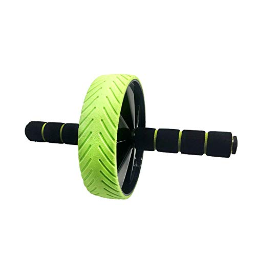 Rueda muscular abdominal – Rodillo para ejercicios abdominales y estomacales Entrenamiento de fuerza de la base, rueda de entrenamiento para el gimnasio en casa con asas antideslizantes JoinBuy.R