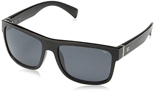 Fila SF897956Z42P Gafas, TOTAL SHINY BLACK, 56/17/140 Unisex Adulto