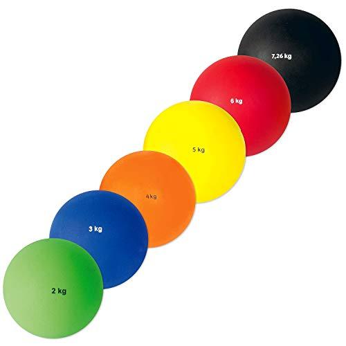 Sport-Thieme Stoßkugel Kunststoff | Indoor & Outdoor | 2kg - 7,26kg | Hallenstoßkugel | Griffiges Material | Eisenschrotfüllung Markenqualität