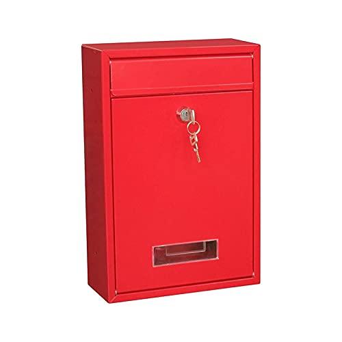 Diebstahlsicherer Briefkasten für den Außenbereich, Wandmontage, Sicherheitsverriegelung, Briefkasten für Zuhause, Garten, Dekoration, Briefkasten, Zeitung, Zeitschrift, Briefkasten (Farbe: F)