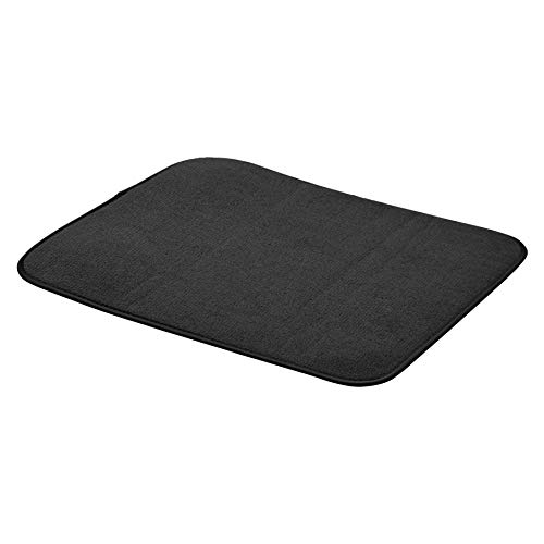 AmazonBasics - Esterilla de secado, 41 x 48 cm, color negro, 4 unidades